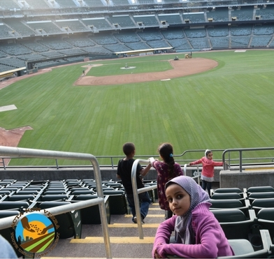 Checking out the Ballpark!