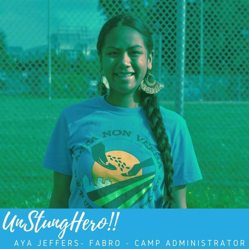 Camp ANV #UnStungHero: Aya Jeffers-Fabro; Camp Administrator