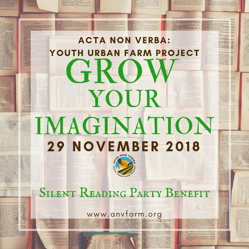 Grow Your Imagination! A Silent Reading Party Benefit with ANV
