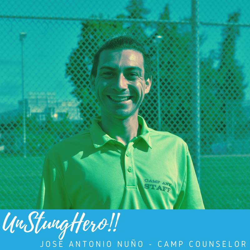 Camp ANV #UnStungHero: José Antonio Nuño;  Camp Counselor