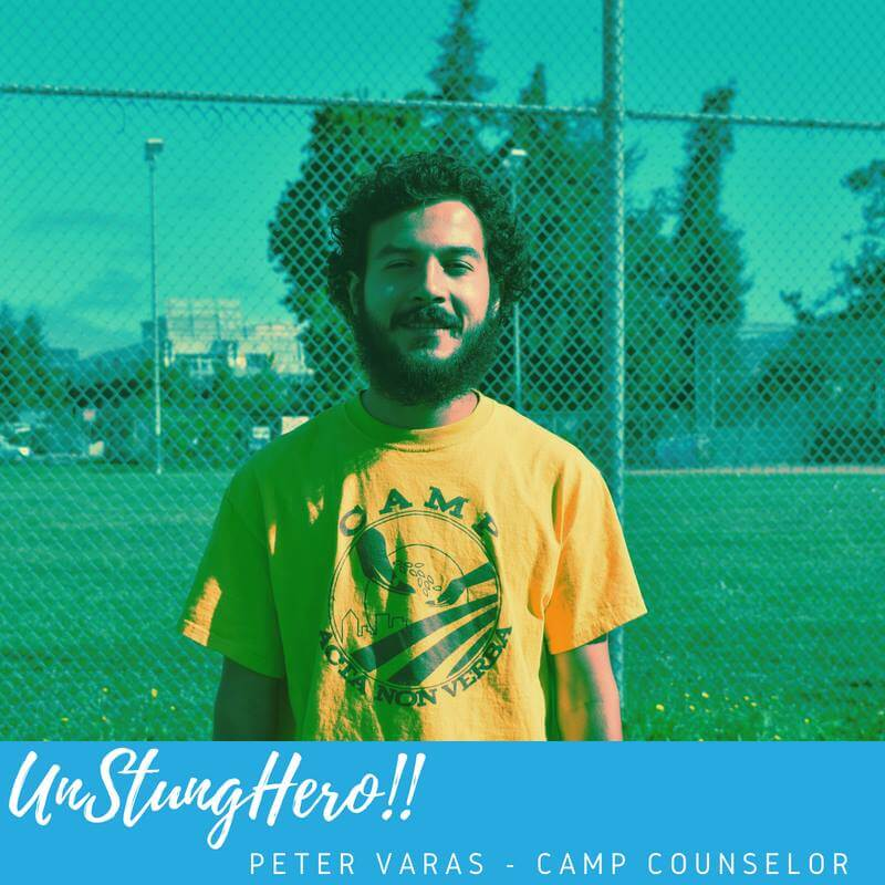 Camp ANV #UnStungHero: Peter Varas;  Food Justice Educator/Camp Counselor